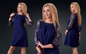 Платье короткое нарядное современное Х8837