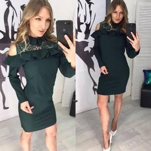 Платье короткое с длинным рукавом современное Х8722