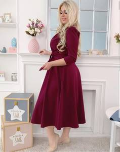 Платье короткое нарядное однотонное Х9769