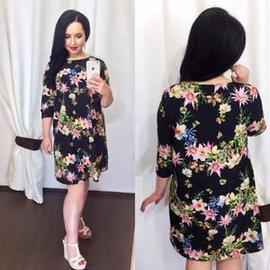 Платье короткое с принтом Ц1004