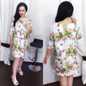 Платье короткое с принтом Ц1005