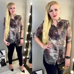 Рубашка с принтом Ц1442