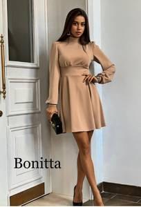 Платье вечернее нарядное с длинным рукавом современное Ш9290