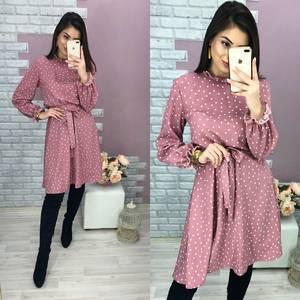 Платье короткое с длинным рукавом Ю4636