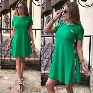 Платье короткое однотонное летнее У0705