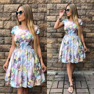 Платье  современное короткое У0957