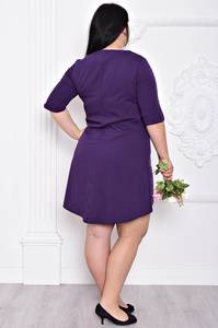 Платье короткое однотонное элегантное С9208
