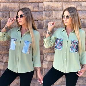 Рубашка с длинным рукавом У7083