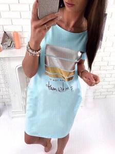 Платье короткое с принтом летнее Ц1795