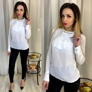 Блуза с длинным рукавом белая Ц2874