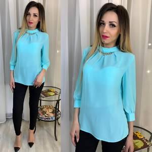Блуза голубая Ц2875