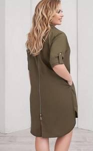 Платье короткое однотонное Ц1764