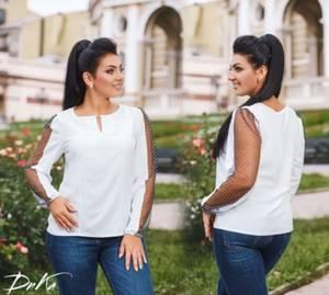 Блуза с длинным рукавом Ц2098