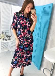 Платье длинное с принтом Ц1775