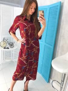 Платье длинное с принтом Ц1776