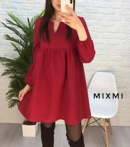 Платье короткое однотонное А22100
