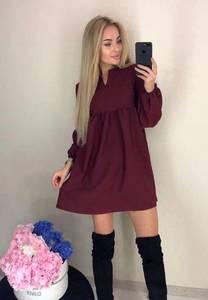 Платье короткое однотонное А22101