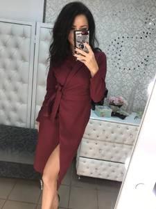 Платье короткое трикотажное с длинным рукавом Х0205