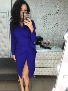 Платье короткое трикотажное с длинным рукавом Х0208
