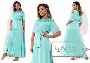 Платье длинное однотонное Ц0541