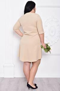 Платье короткое однотонное элегантное С9209