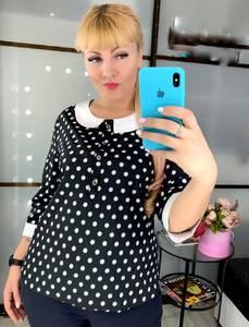 Блуза в горошек Ч4507