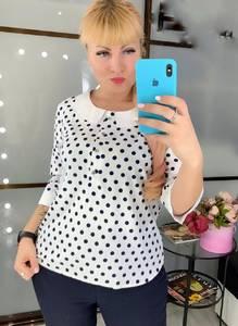Блуза в горошек Ч4508