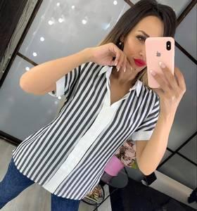 Блуза с коротким рукавом Ч4518