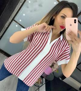 Блуза с коротким рукавом Ч4519