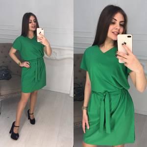 Платье короткое однотонное Ц2078