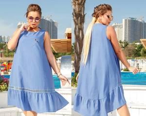 Платье короткое летнее повседневное Т6130