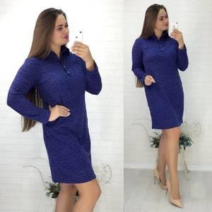Платье повседневное с длинным рукавом У0849
