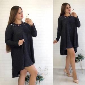Платье короткое с длинным рукавом нарядное У0852