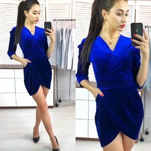 Платье короткое вечернее с рукавом 3/4 Х0459