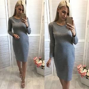 Платье короткое повседневное с длинным рукавом У1116