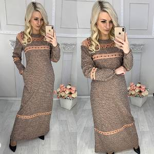 Платье длинное с длинным рукавом повседневное Х0901