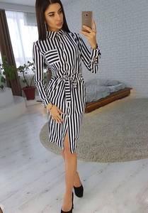 Платье короткое с длинным рукавом Ц3048