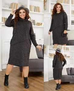 Платье короткое однотонное А21812