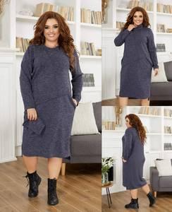 Платье короткое однотонное А21813