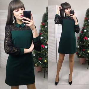 Платья короткое с длинным рукавом элегантное Х0082