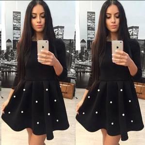 Платье короткое с рукавом 3/4 современное Х0274