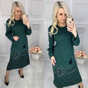 Платье длинное с длинным рукавом повседневное Х0891
