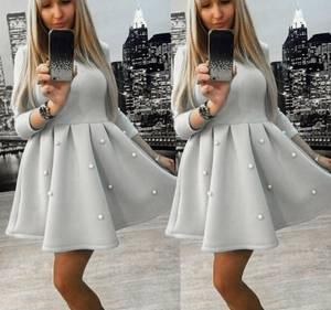 Платье короткое с рукавом 3/4 современное Х0275