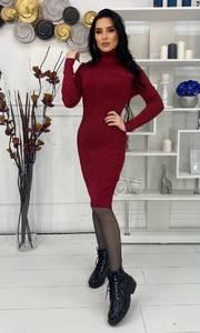 Платье короткое с длинным рукавом А57033