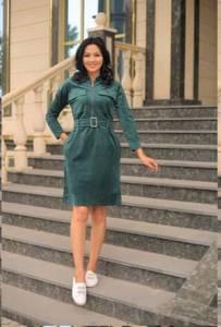 Платье короткое однотонное А10927