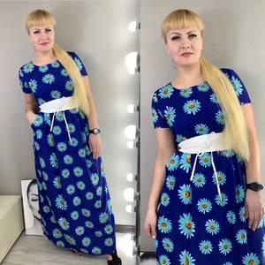 Платье длинное с принтом Ц3833