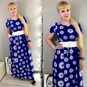 Платье длинное с принтом Ц3834
