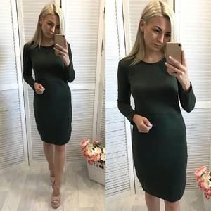 Платье короткое повседневное с длинным рукавом У1121