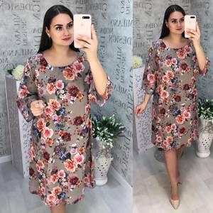 Платье короткое с принтом Ц3301