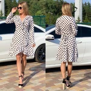 Платье короткое с длинным рукавом Ч2200